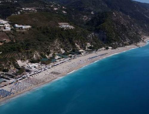 Παραλία Κάθισμα Λευκάδας: Της ομορφιάς της το μεγαλείο από ψηλά…